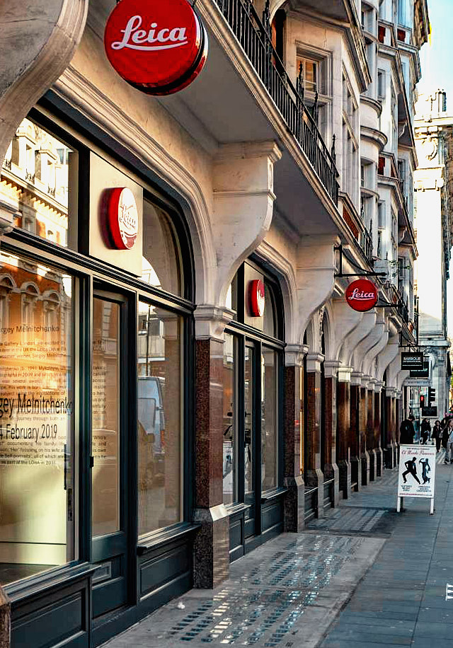 Leica Store London in 64-66 Duke Street in Mayfair, London.