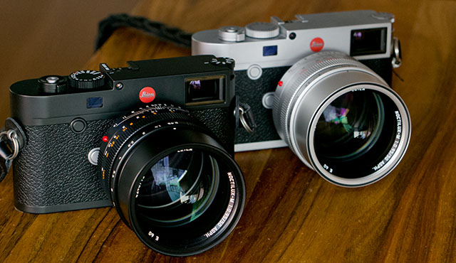 The Leica 50mm Noctilux f/0.95 in black and in silver on Leica M10. © Thorsten Overgaard.