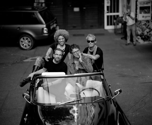 Princess Joy Villa, Jan Grarup, Peter Coeln and me taking a ride in a 1963 Citroen DS23 Chapron convertible outside the Leica Shop Vienna. Leica M 240 with Leica 50mm Noctilux-M ASPH f/0.95.