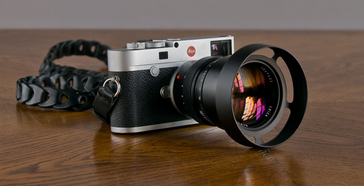 The E60-75 Ventilated shade on the Leica 75mm Summilux-M f/1.4
