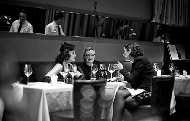 We stumbled into these 1920's ladies in the restaurant at The George in Hamburg. Had we not been wise to make sure to get sleep after the travel, we would jave gone party with them at their bi-yearly 1920's party. Leica M Type 240 with Leica 50mm Noctilux-M ASPH f/0.95.