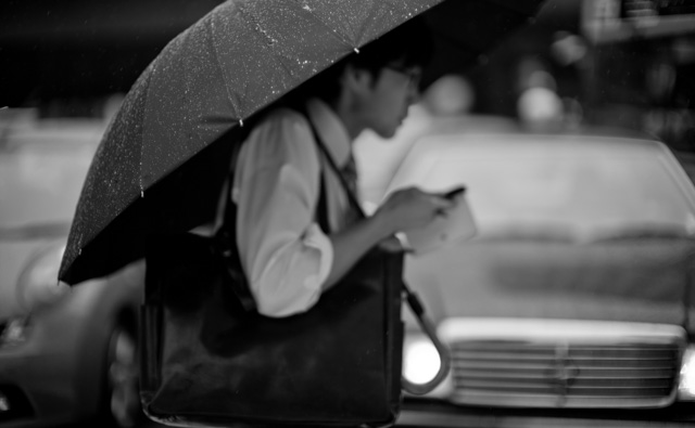 Rainy days in Tokyo, Japan. Leica M-D 262 with Leica 50mm Noctilux-M ASPH f/0.95. © 2016 Thorsten Overgaard.