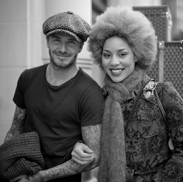 David Beckham and Princess Joy Villa in front of the Goyard store in London. Few noticed the difference between David and Thorsten and simply thought that David Beckham was Thorsten Overgaard. Leica M 240 with Leica 50mm Noctilux-M ASPH f/0.95.