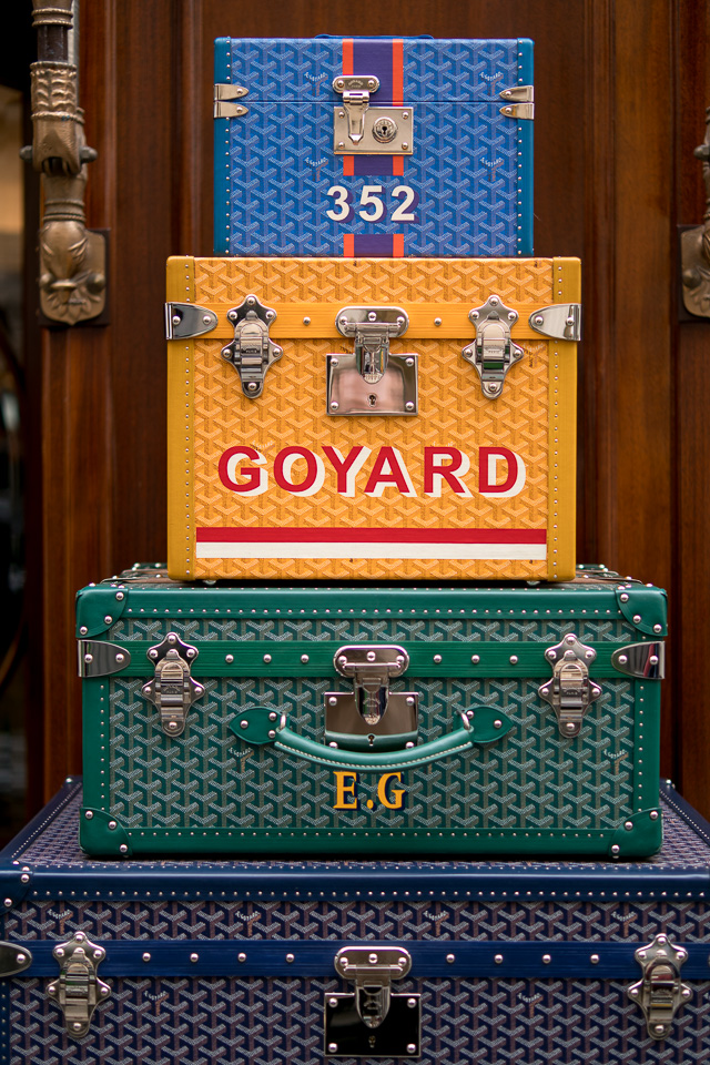 The full picture. A stack of Goyard thrunks.The 35mm wide open at f/1.4, 200 ISO. © Thorsten Overgaard.