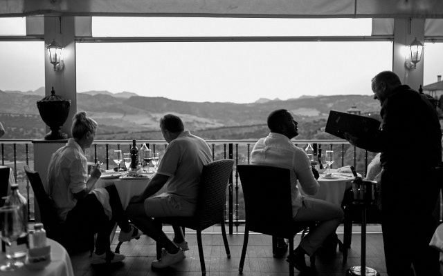 he Hotel Montelirio in Ronda has an amazing view for restaurant guests (and excellent service, too). Leica M Monochrom with Leica 28mm Summilux-M ASPH f/1.4. © Thorsten Overgaard.