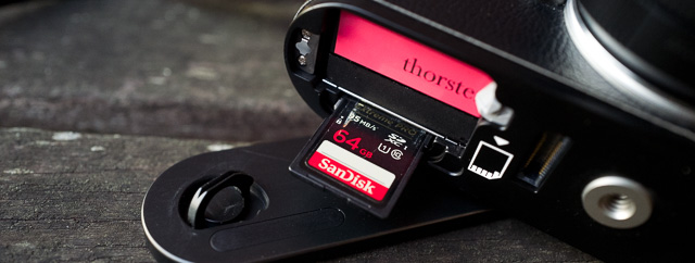 The SD-card for Leica M246 and Leica M 240 is SanDisk 64GB 95MB/sec