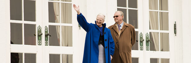 Queen Margrethe of Denmark celebrating her 71th birthday
