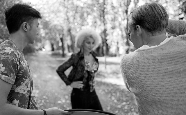 Chuen Seng Teoh and Anders Ketelsen, photographing Joy Villa in Paris.