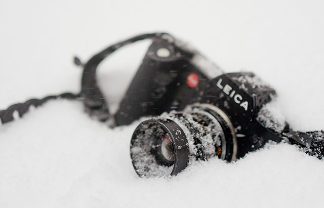 Leica SL in the snow. © Thorsten Overgaard.