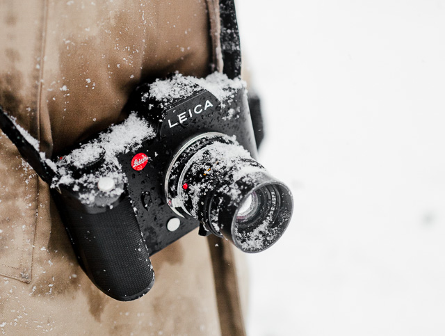 The Leica SL 601 in the snow of New York blizzard 2016