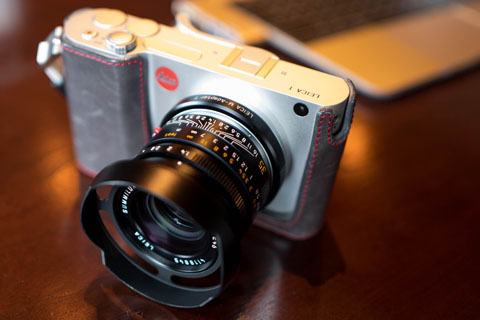 Leica T with Leica ventilated hood on the Leica 35mm Summilux-M ASPH f/1.4 FLE by Lawrence Hui.