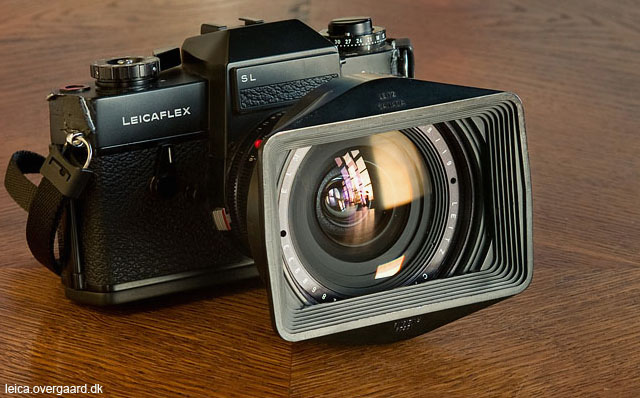 Leitz Leicaflex SL with the Leica 19mm Elmarit-R f/2.8 Version I