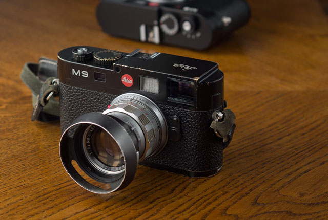 My well-brassed Leica M9. © Thorsten Overgaard.
