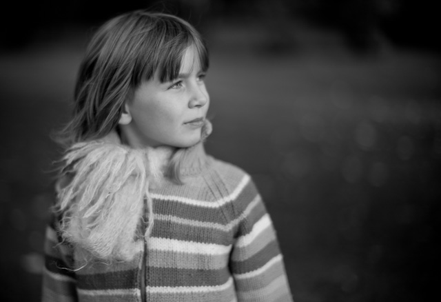 My daughter Robin Isabella von Overgaard in Hamburg. Leica M Monochrom with Leica 50mm Noctilux-M f/1.0. © Thorsten Overgaard.