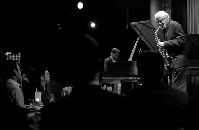 McCoy Tyner Trio and Gary Bartz playing at Blue Note Tokyo for a very enthusiastic audience.