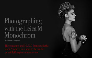 Photographing with the Leica M Monochrom