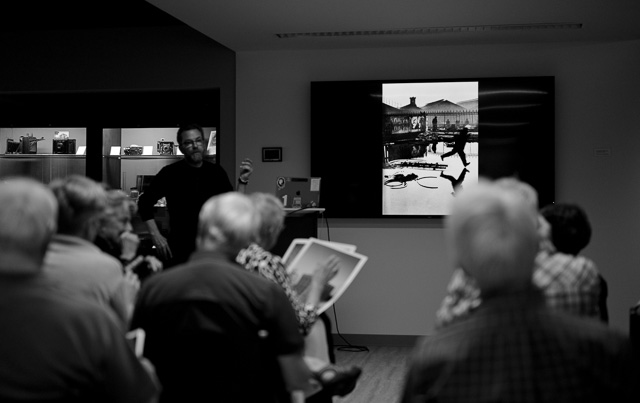 Discussing prints and Cartier-Bresson at IPHF.