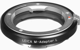 Leica M-Adapter L for using Leica M lenses on the Leica SL, Leica TL2 and Leica CL.