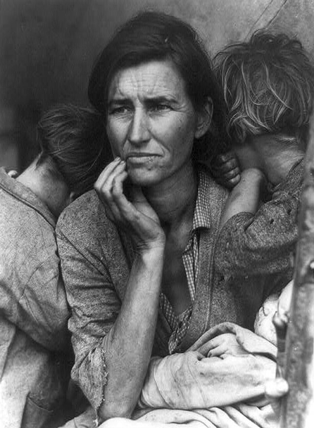Migrant Mother by Dorothea Lange (1936).