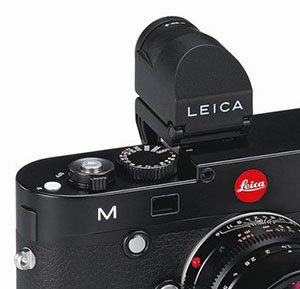 Leica Visoflex EVF2 electronic viewfinder on the Leica M 240.
