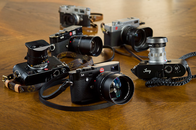 Leica M Type 240 with Leica M9, Leica M Monochrom, Leica Digilux 2 and Leica M4