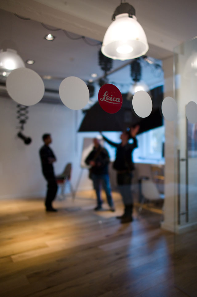 photo studio and seminar room upstairs in the Leica Mayfair store with Leica M9 and 24mm Summilux-M ASPH f/1.4