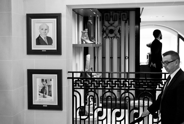 Inside the Hermes store in Paris where the picture of Jean-Louis Dumas (1938-2010) is hanging. He always carried a Leica and a red notebook. Leica M9 with Leica 50mm APO-Summicron-M ASPH f/2.0. © 2016 Thorsten Overgaard.