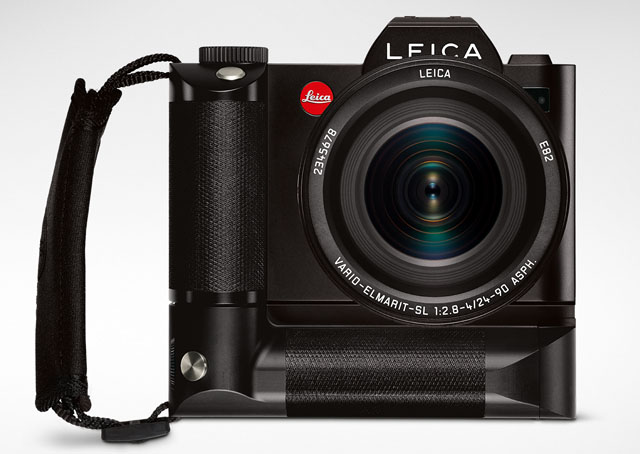 Leica SL handgrip ready for preorder as of September 2016.