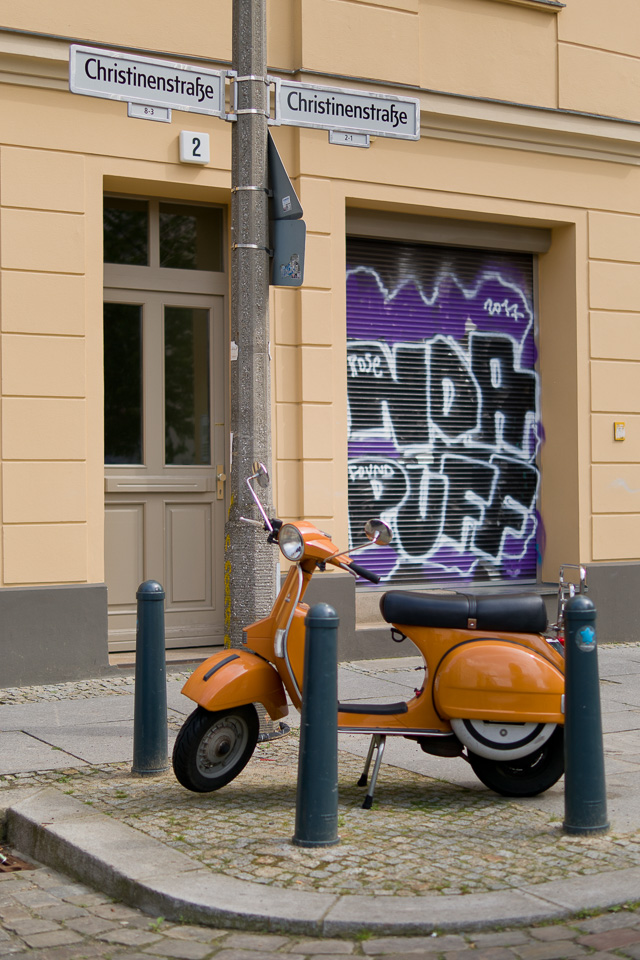 Brand new scooter in East Berlin. Leica TL2 with Leica 35mm Summilux-TL ASPH f/1.4. © 2017 Thorsten Overgaard.