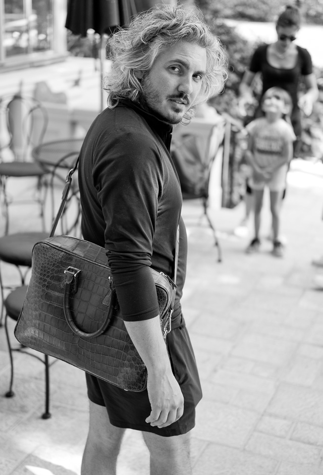 "Designer Matteo Perin with ""The Von"" camera bag. Leica TL2 with Leica 35mm Summilux-TL ASPH f/1.4. © 2017 Thorsten Overgaard."