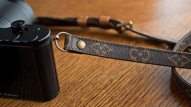 The Louis Vuitton camea strap on the Leica TL2.
