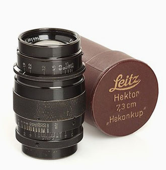 The Hektor 73mm f/1.9 of 1930-1931 sells at $900 - $6,000 these days.