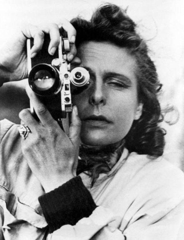 Leni Riefenstahl  with Leica