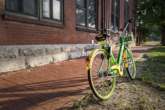 Lime Bike in St. Louis by Doug Klein. Leica Q.