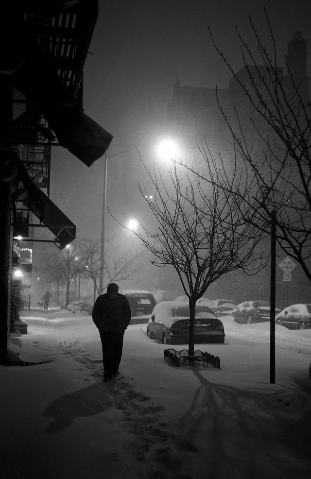 The New York blizzard, December 2010. Leica M9 with Leica 50mm Summicron-M f/2.0 II.© 2010-2017 Thorsten Overgaard.