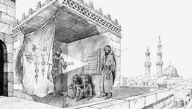 Ibn-al-Haytham mentioned Camera Obscura in his 'Book of Optics' in 1021.