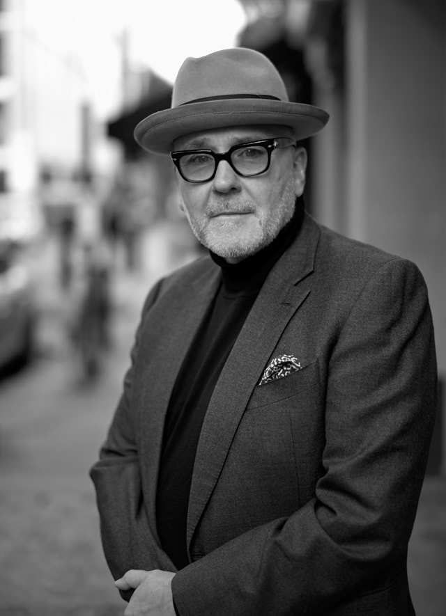 Street portrait in Soho, London. Mr Mark Powell. Leica M10-P with Leica 50mm Summilux-M ASPH f/1.4 BC. © Thorsten Overgaard.