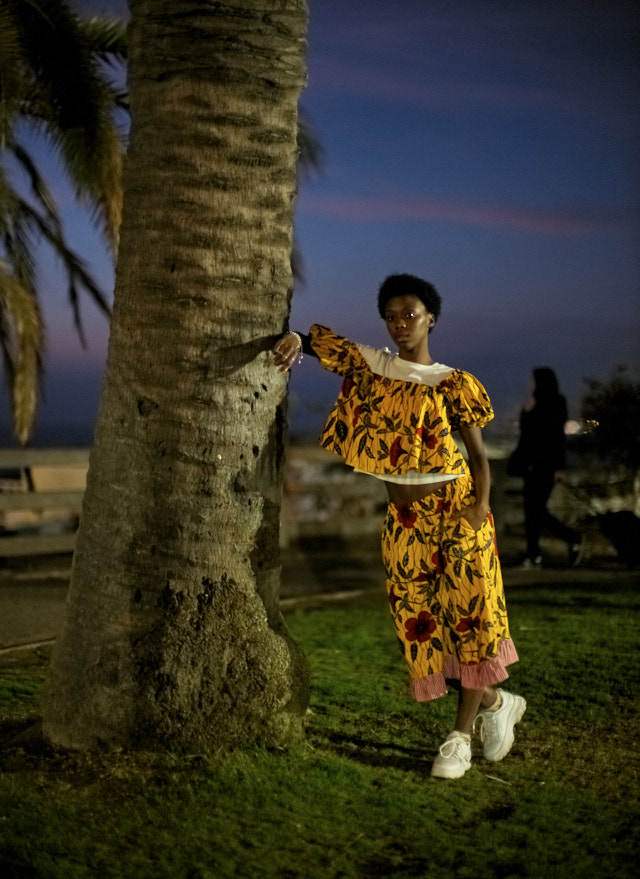 JUNNY fashion from Harlem, photographed in Santa Monica with Pesy Therese. © Thorsten Overgaard.