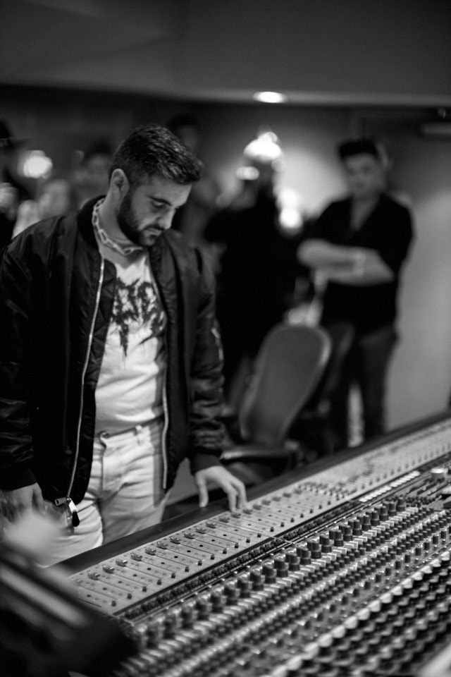 Producer Connor Musarra in Studio B at Capitol Studios in Hollywood. Leica M10-P with Leica 50mm Noctilux-M ASPH f/0.95. © Thorsten Overgaard.