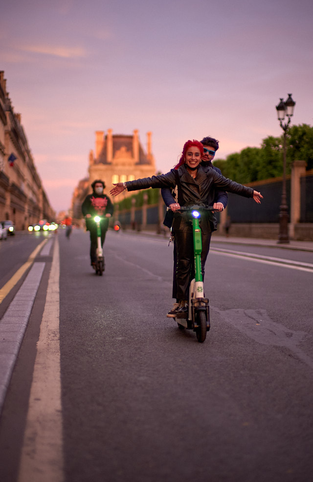 Enthusiasm over the late 9:40 pm sunset in Paris, and nobody gives a heck about the curfew.  Leica M10-P with Leica 50mm Noctilux-M ASPH f/0.95. © Thorsten Overgaard.