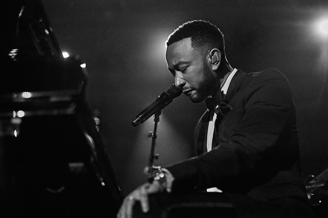 John Legend took a deep breath before he performed a new song that is not out yet. I don't know how I got that close, but I did. Leica M10-P with Leica 50mm Summilux-M ASPH f/1.4 © Thorsten Overgaard.