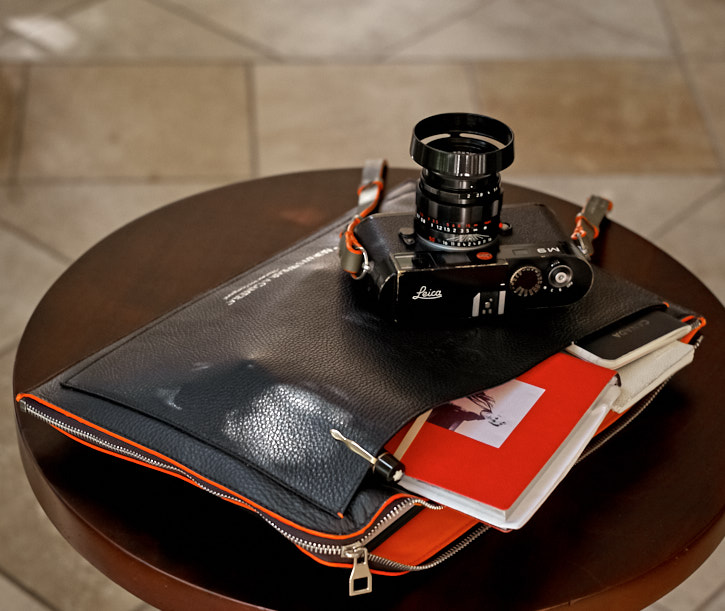 "The ""Always Wear a Camera"" Calfskin Document Carry-On By Thorsten von Overgaard"