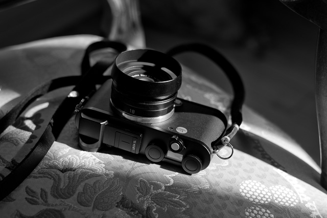 The Leica CL with the 18mm Elmar-TL f/2.8 and Rock'n'Roll strap.