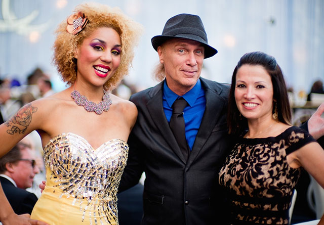 Joy Villa with Bill Sheehan and Elisabetta Sheehan.