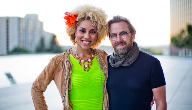 Joy Villa and Thorsten Overgaard, one of the photos he made with the Leica.