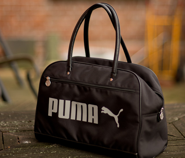 PUMA gym bag as camera bag for photographers