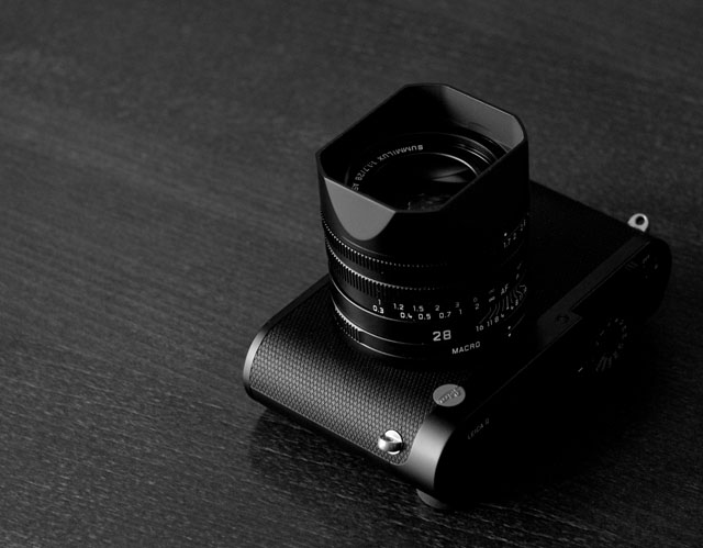 Leica Q full-frame mirrorless Leica cameara with fixed Leica lens.
