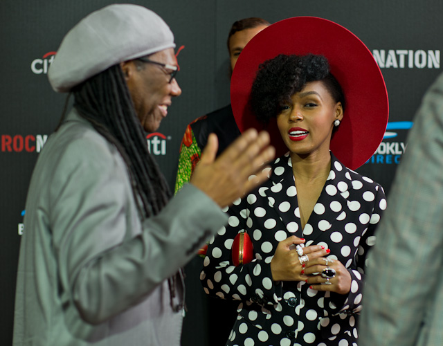 Janelle Monae at the Rocnation pre-Grammy Brunch 2015