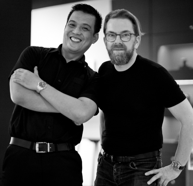 Jay Mendoza and Thorsten Overgaard in the Leica Store Manila.