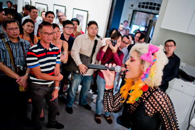 Grammy-considered recording artist Princess Joy Villa performing at Leica Gallery Singapore